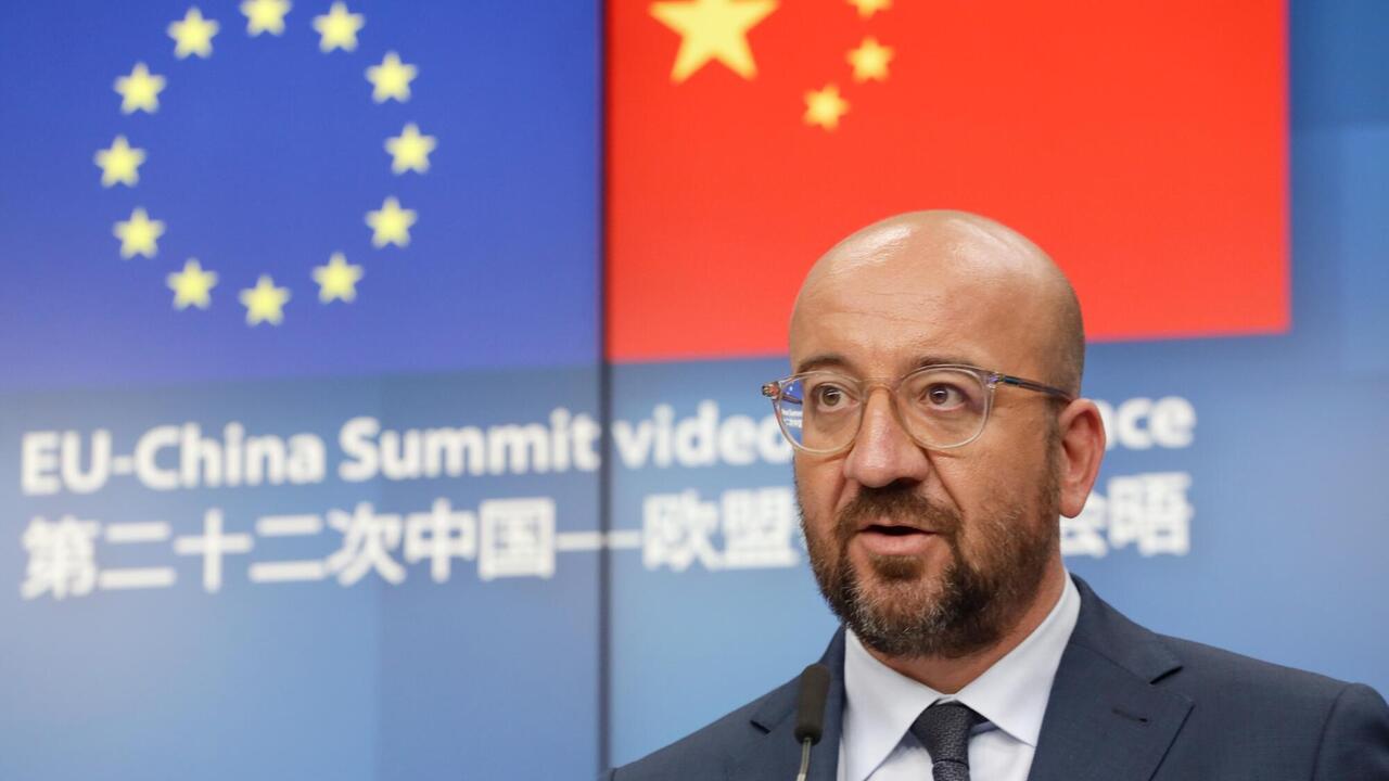 EU-ordförande Charles Michel efter EU-toppmötet med Kina.