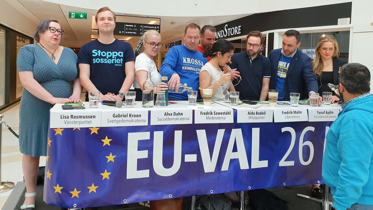 EU-valsdebatt i Nacka 2019.