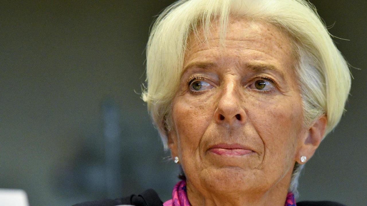 Christine Lagarde under onsdagens utfrågning i EU-parlamentets ekonomiutskott.