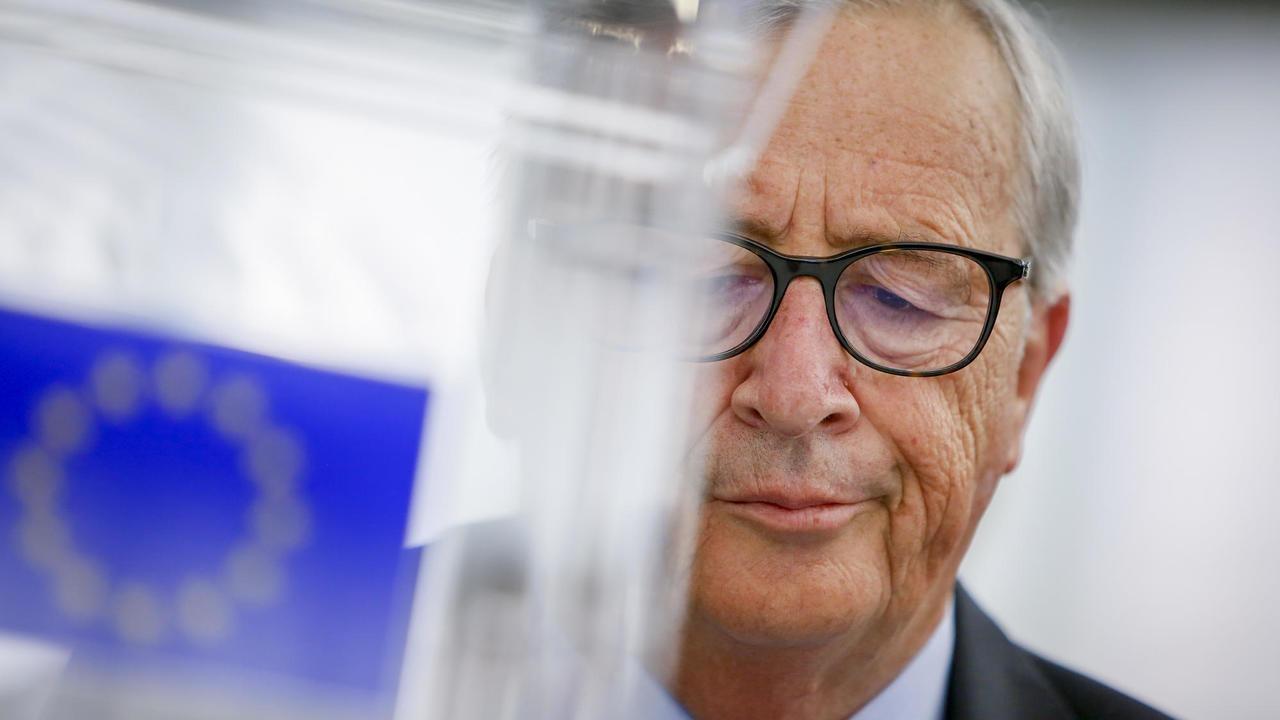 EU-kommissionens ordförande Jean-Claude Juncker under onsdagens debatt i EU-parlamentet. Arkivbild.