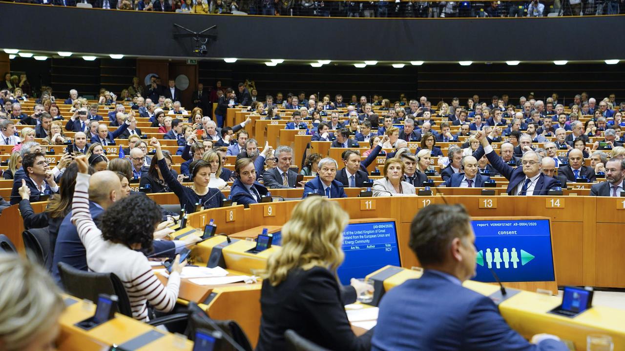 Omröstning i Europaparlamentet.