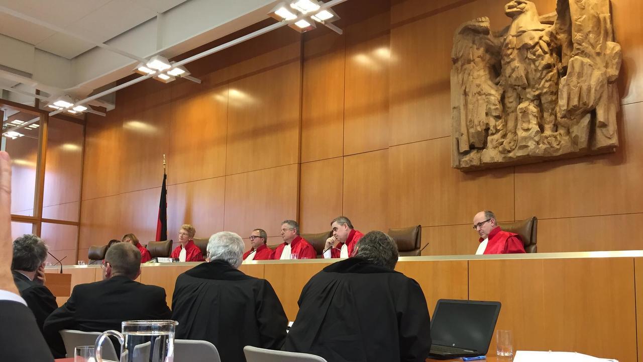 Den tyska författningsdomstolen med säte i Karlsruhe har till uppgift att granska att landets grundlag efterlevs. Arkivbild