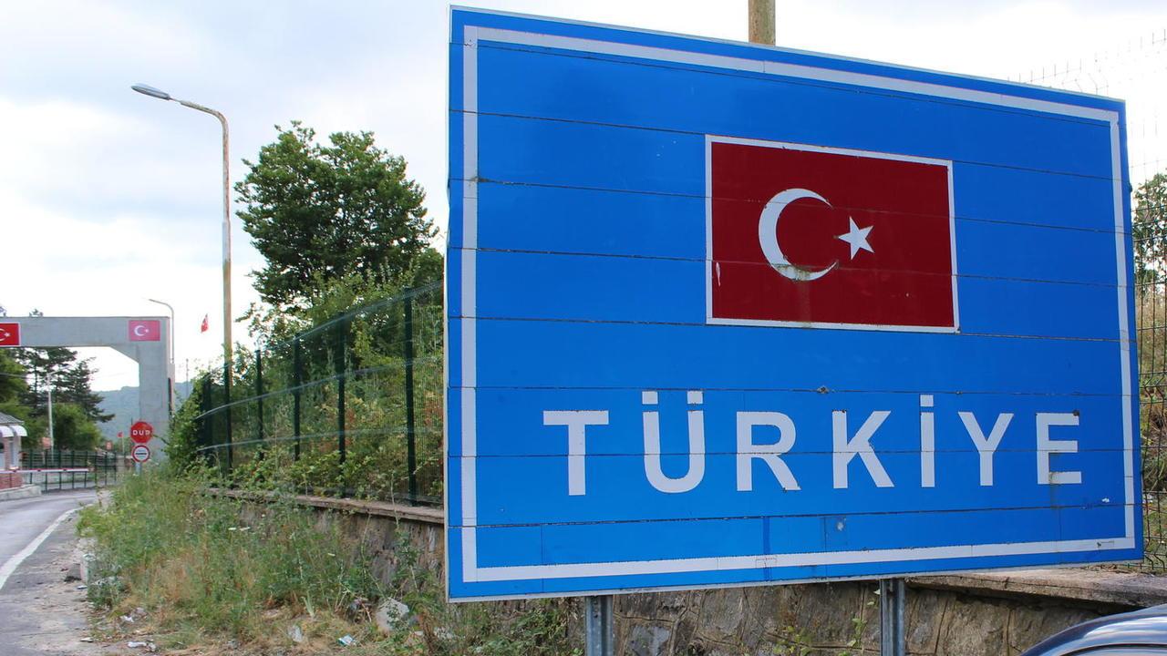 Gränsen mellan Turkiet och EU-landet Bulgarien.