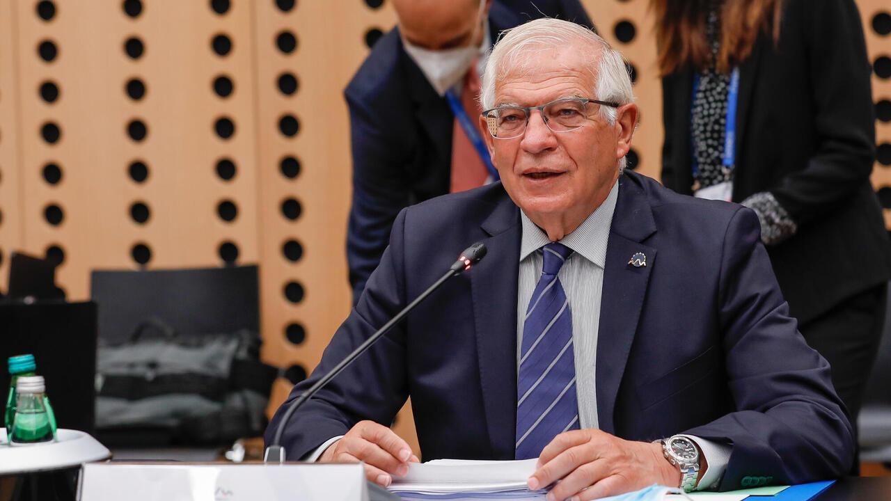 EU:s utrikeschef Josep Borrell ledde torsdagens informella försvarsministermöte i Slovenien.