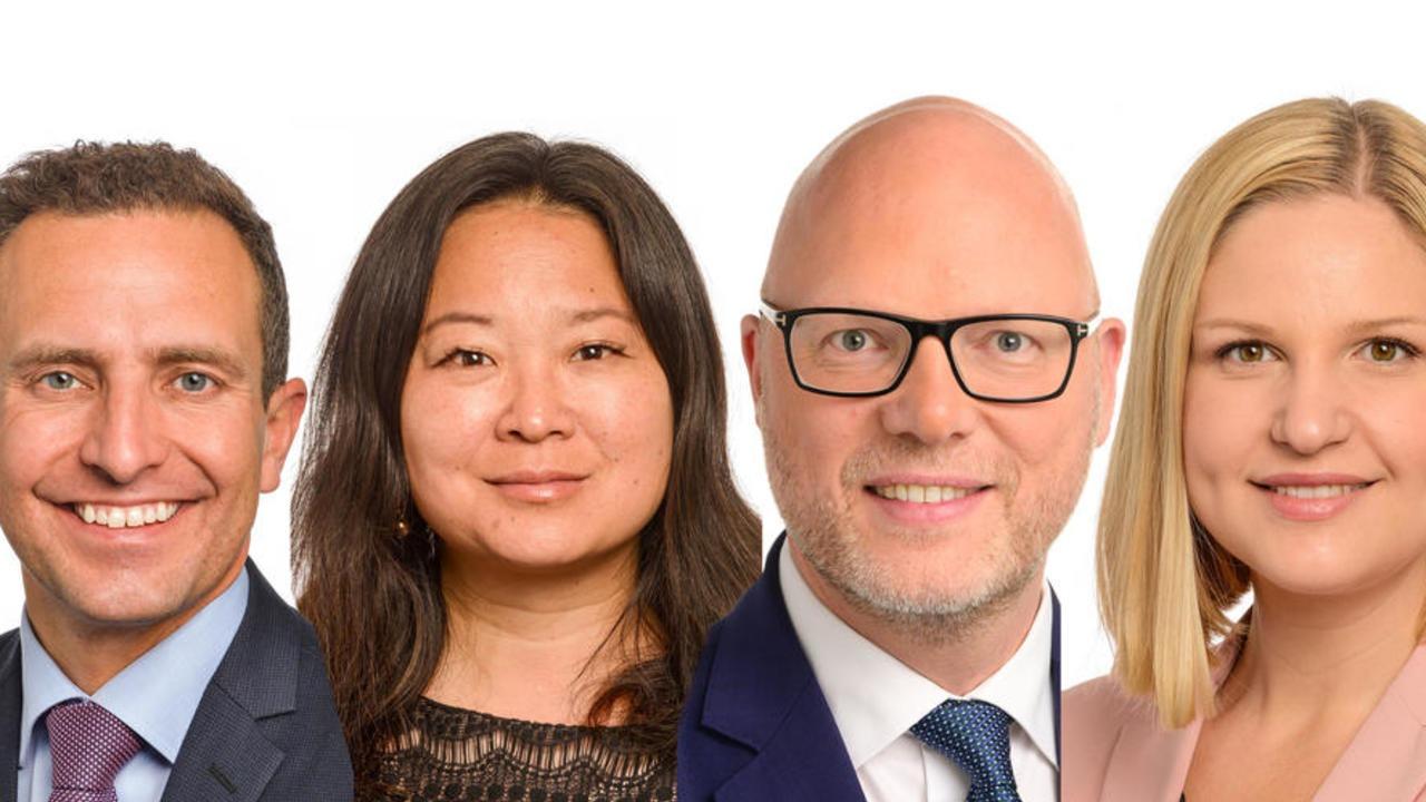 Moderaternas Europaparlamentariker Tomas Tobé, Jessica Polfjärd, Jörgen Warborn och Arba Kokalari.