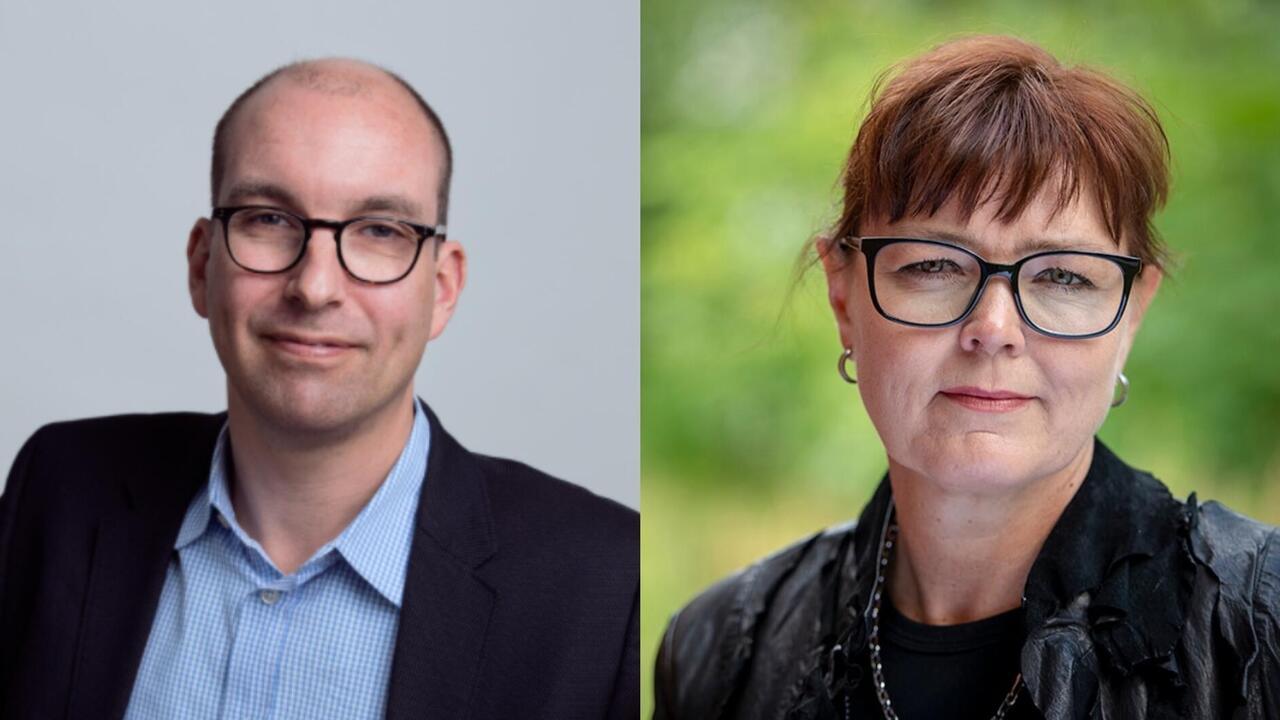 Claude Guiron och Anette Rosengren från företaget Philip Morris Norden.