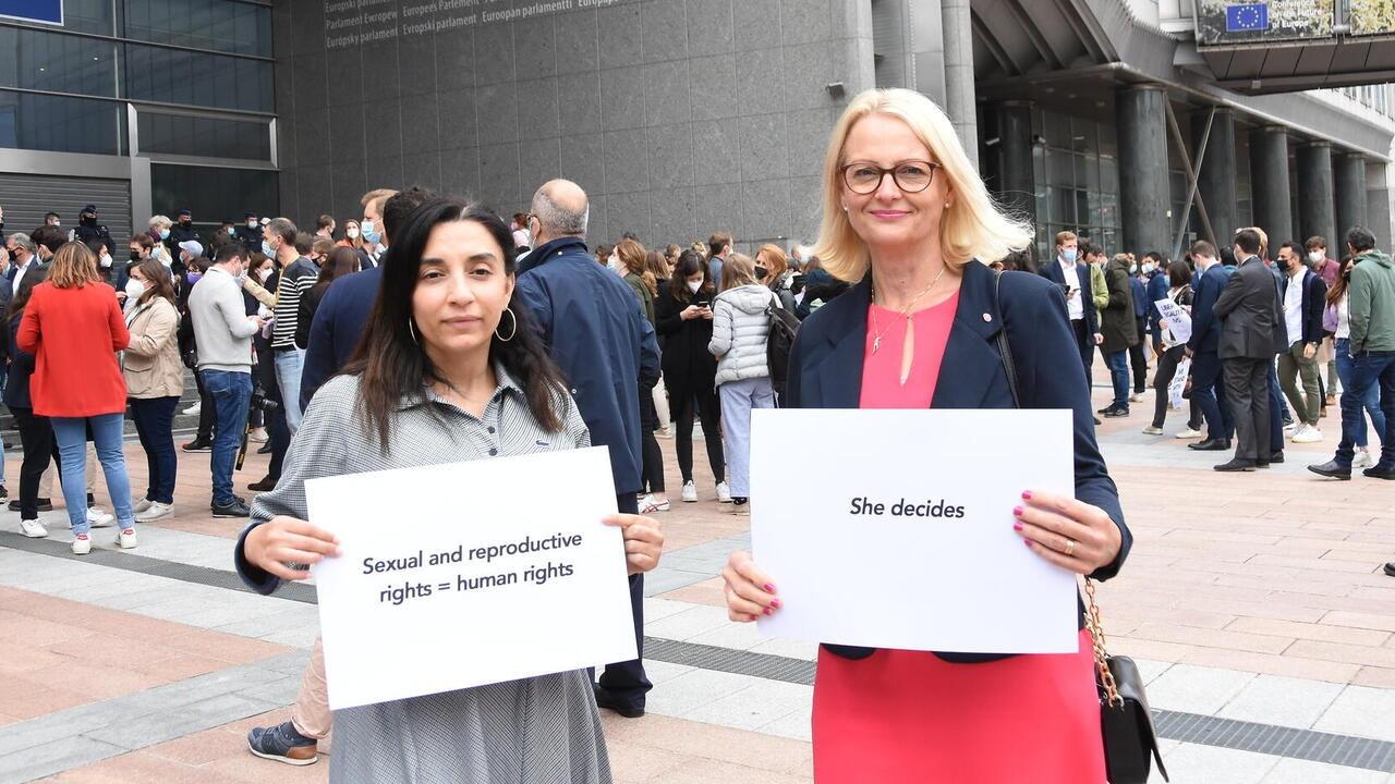 EU-parlamentarikerna Evin Incir och Heléne Fritzon (S). Arkivbild.