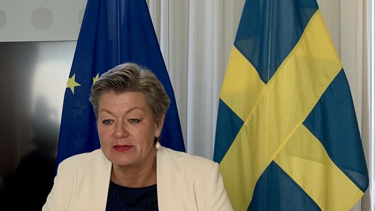 Föreslagen EU-kommissionär Ylva Johansson (S) i Bryssel 10 september 2019.