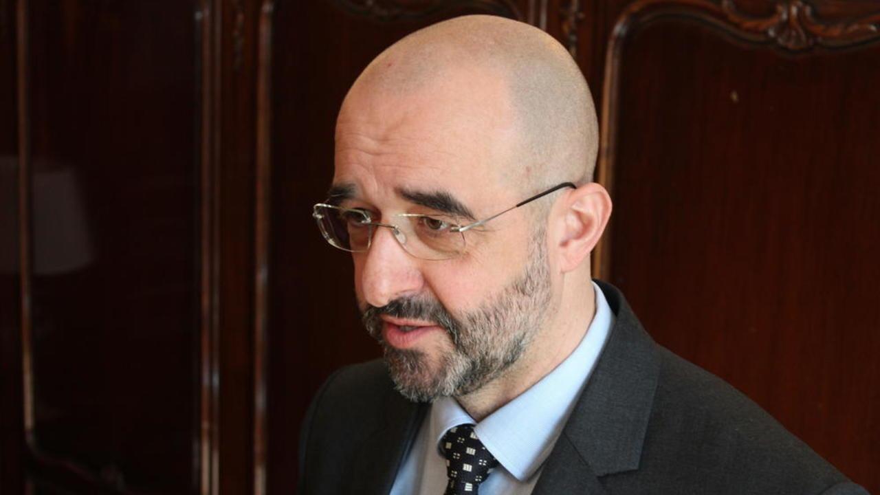Den ungerska regeringens internationella talesperson statssekreteraren Zoltán Kovács på Sverigebesök.