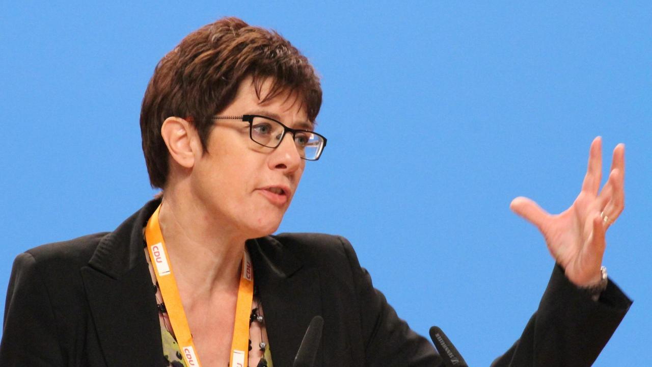 Annegret Kramp-Karrenbauer, avgående ledare för tyska kristdemokratiska CDU. Arkivbild.