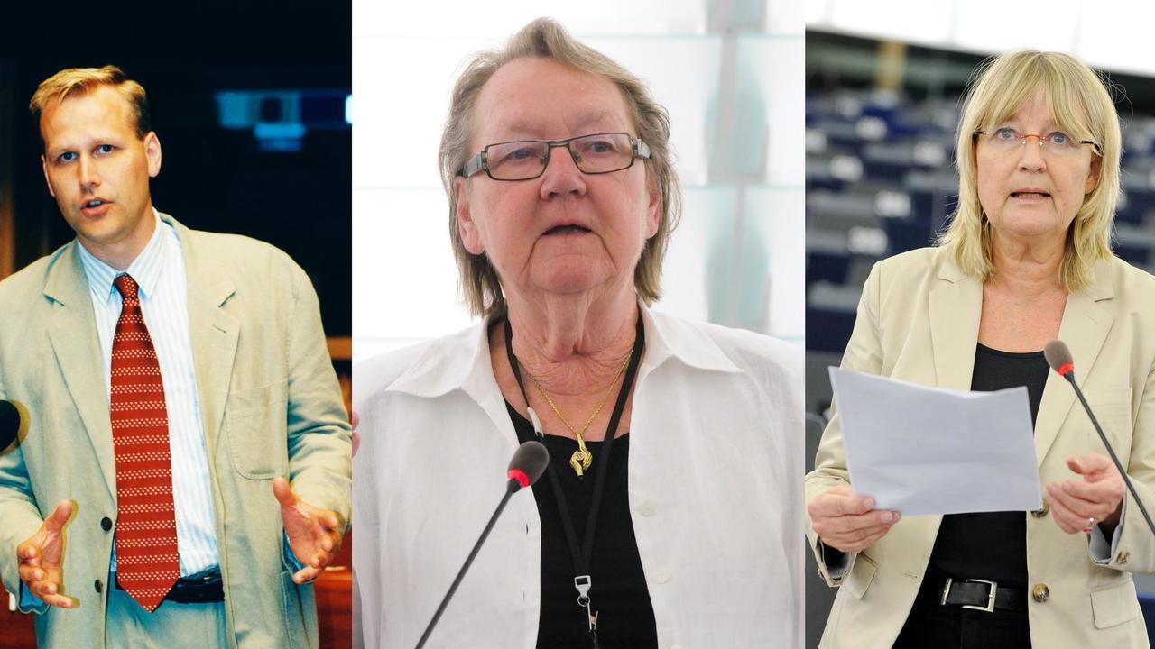 De mest kryssade EU-parlamentarikerna Jonas Sjöstedt (V), Marit Paulsen (L) och Marita Ulvskog (S).
