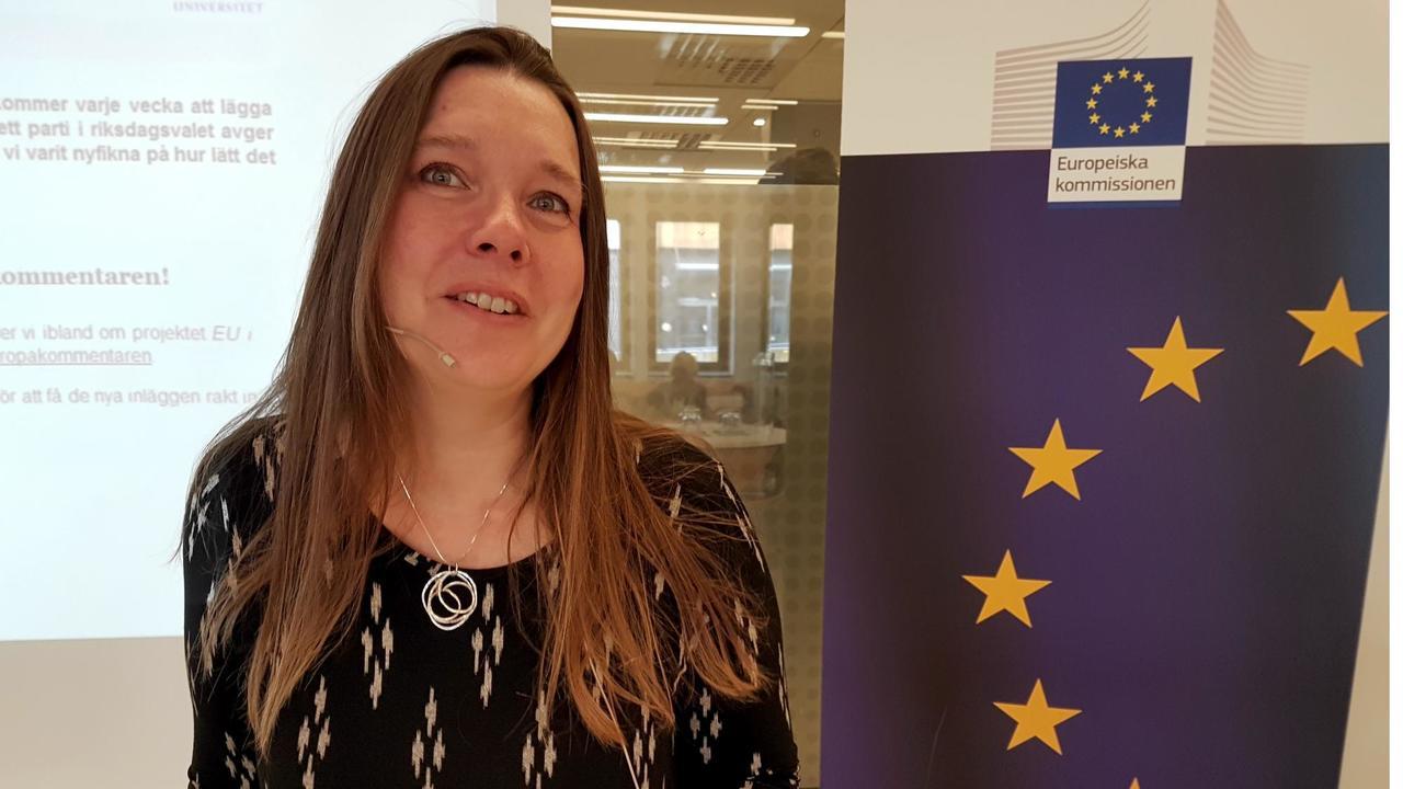 Forskaren Maria Strömvik säger att inga svenska riksdagspartier redogör på sina hemsidor vad de tycker i EU-frågor som ska beslutas inom kort.
