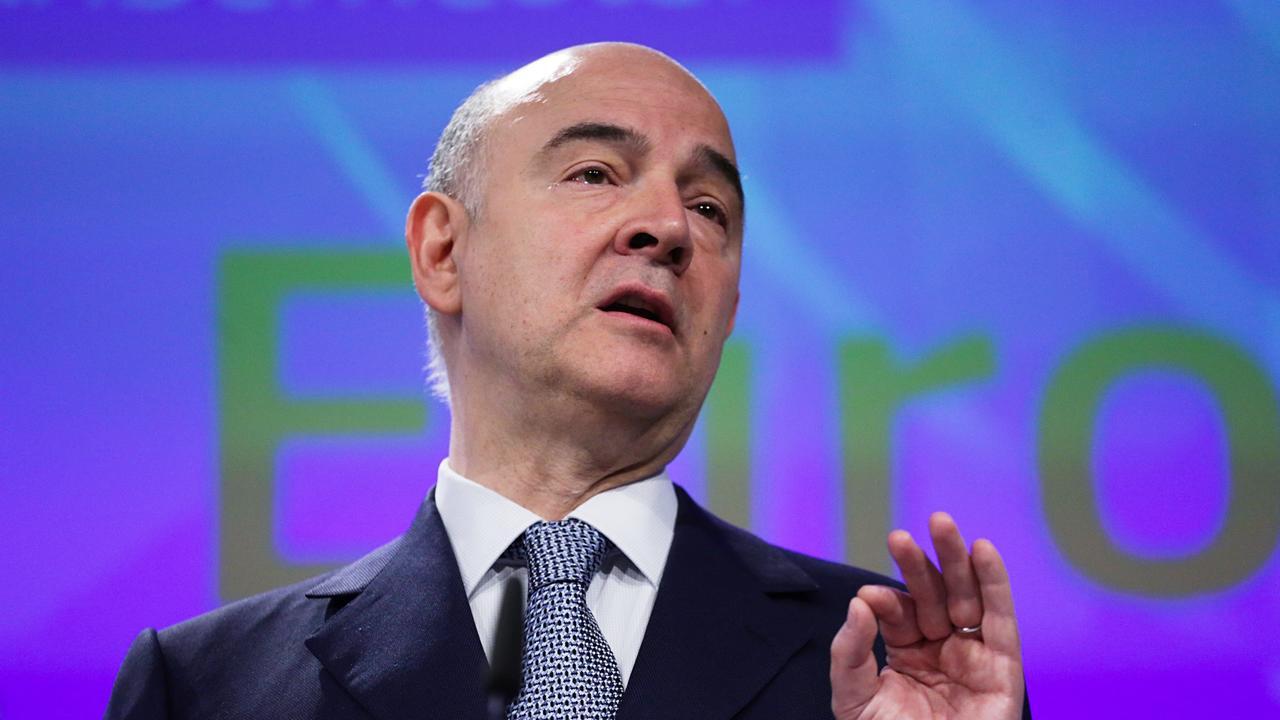 EU:s ekonomikommissionär, den franske socialdemokraten Pierre Moscovici. Arkivbild