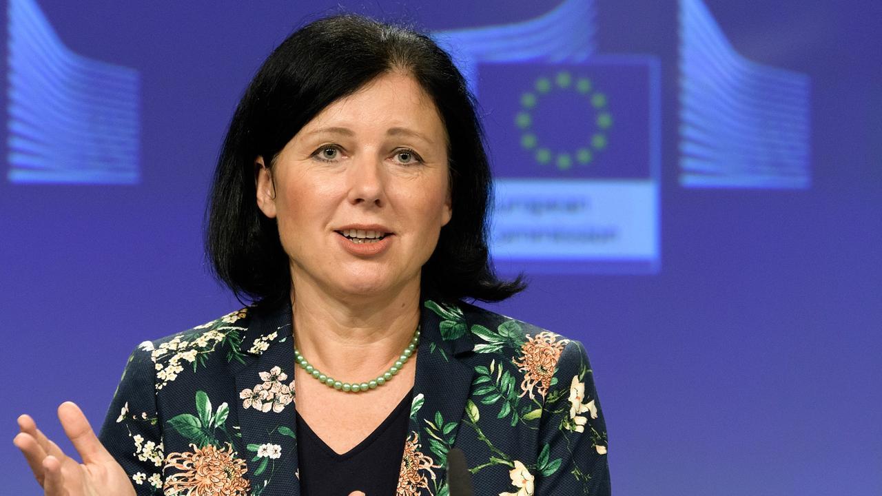 EU:s justitiekommissionär Věra Jourová.