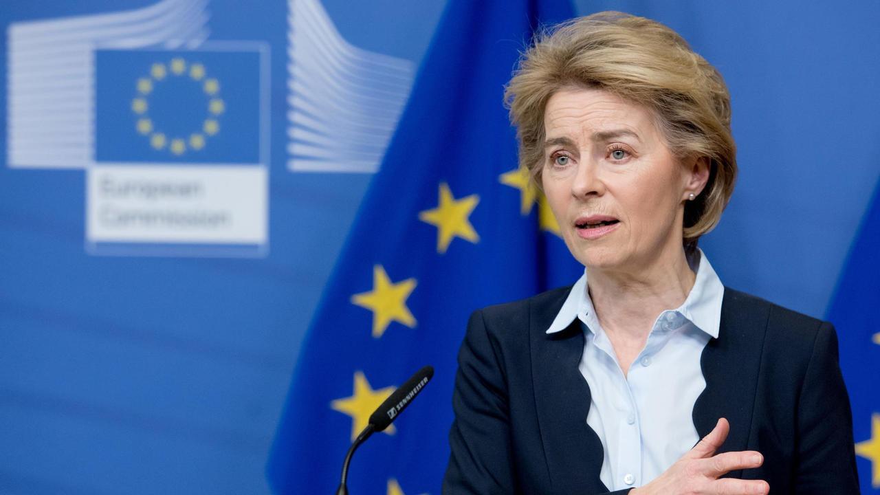 Ursula von der Leyen vädjade på söndagskvällen att EU:s inre marknad ska hålla sin takt.