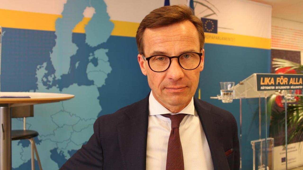 Moderatledaren Ulf Kristersson på onsdagen efter sitt första större offentliga EU-tal.