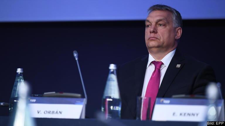 Ungerns premiärminister Viktor Orbán vid ett tidigare EPP-möte. Arkivbild.