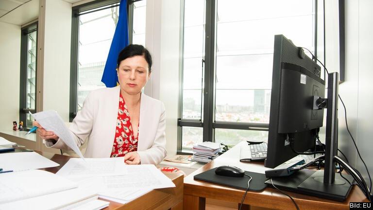 EU-kommissionens vice ordförande Věra Jourová. Arkivbild.