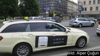 I flera EU-länder har taxichufförer demonstrerat mot Uber. Arkivbild.