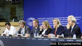 Den högerextrema ENF-gruppen är Europaparlamentets minsta med 35 ledamöter. Arkivbild.