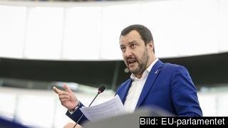 Italiens inrikes minister och vice premiärminister Matteo Salvini var tidigare EU-parlamentariker. Arkivbild.