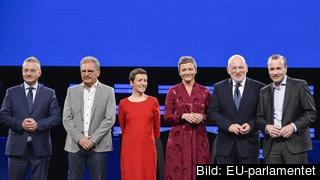 Spitzenkandidaterna för sex av de europeiska transnationella partierna.