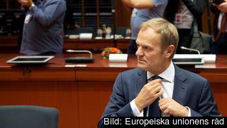 Europeiska rådets ordförande Donald Tusk hoppas bli omvald i veckan. Arkivbild.