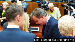 Storbritanniens avgående premiärminister David Cameron under tisdagens EU-toppmöte. Arkivbild.