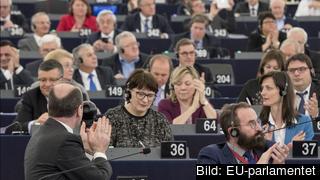 Inga kvitton behöver visas upp för att EU-parlamentarikerna ska få 42 000 kronor varje månad. Arkivbild.