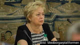 Malgorzata Gersdorf är ordförande för Polens högsta domstol och en av dem som återigen är i tjänst.