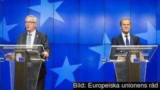 EU-kommissionens ordförande Jean-Claude Juncker och Europeiska rådets ordförande Donald Tusk.
