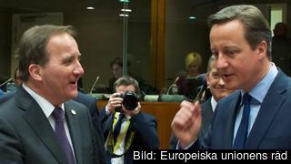 Stefan Löfven och David Cameron.