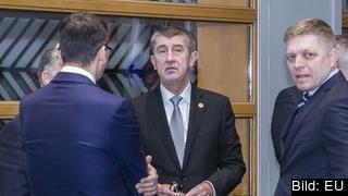Premiärministrarna för de fyra Visegradländerna Polen, Ungern, Slovakien och Tjeckien samtalar inför torsdagens EU-toppmöte.