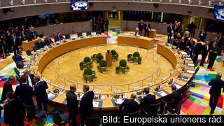 EU-ländernas stats- och regeringschefer samtalar i den nya mötesbyggnaden i Bryssel på fredagen.