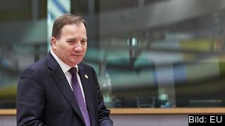 Statsminister Stefan Löfven under EU-toppmötet i Bryssel.