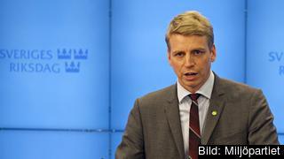 Finansmarknadsminister Per Bolund (MP). Arkivbild.