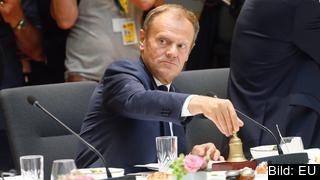 Europeiska rådets ordförande Donald Tusk under fredagens EU-toppmöte där brexit diskuterades. Arkivbild.
