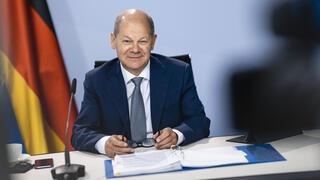 Socialdemokratiska SPD:s förbundskanslerkandidat Olaf Scholz. Arkivbild.