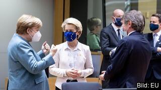 Den tyska förbundskanslern Angela Merkel är arkitekten bakom kompromissen som EU-ledarna ställde sig bakom.