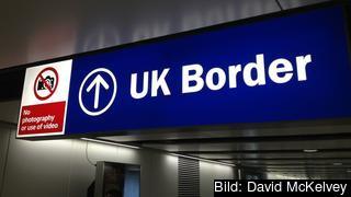 EU:s fria rörlighet väntas uppgöra att gälla i Storbritannien 29 mars 2019. Arkivbild.