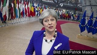 Inför veckans EU-toppmöte väntas premiärminister Theresa May be om en förlängning av utträdesförhandlingarna. Arkivbild.
