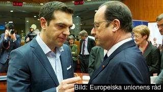 Alexis Tsipras i samtal med François Hollande. Arkivbild.
