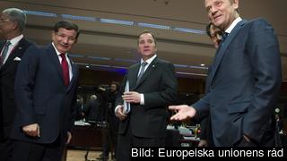 Statsminister Stefan Löfven (S) och Europeiska rådets ordförande Donald Tusk. Arkivbild.