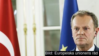 Europeiska rådets ordförande Donald Tusk leder förhandlingarna i Bryssel. Arkivbild.