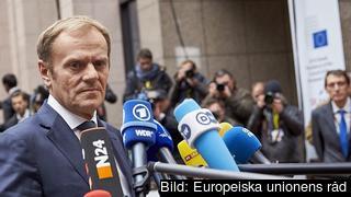 Europeiska rådets ordförande Donald Tusk inför torsdagens EU-toppmöte i Bryssel.