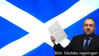 Den skotske försteministern Alex Salmond vill att landet lämnar Storbritannien. Om knappt 300 dagar tar skottarna ställning i en folkomröstning. Arkivbild.