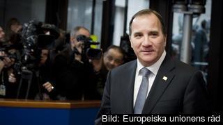 Statsminister Stefan Löfven (S) anländer till toppmötet i Bryssel på torsdagen.