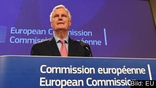 EU:s brexitförhandlare Michel Barnier ställer sig frågande efter att ha läst britterna senaste förslag.
