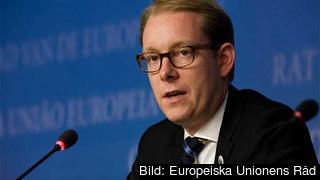 Tobias Billström (M) leder riksdagens stora EU-utredning. Arkivbild.