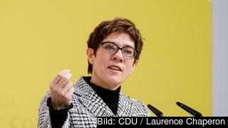 Annegret Kramp-Karrenbauer, ledare för tyska kristdemokratiska CDU. Arkivbild.